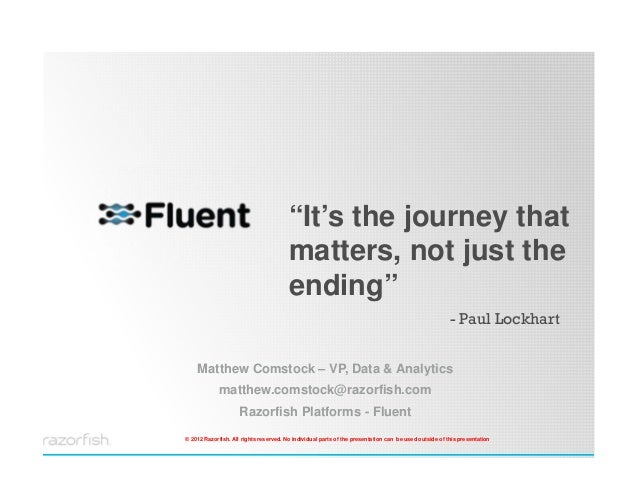 """""""It's the journey that                                              matters, not just the                                 ..."""