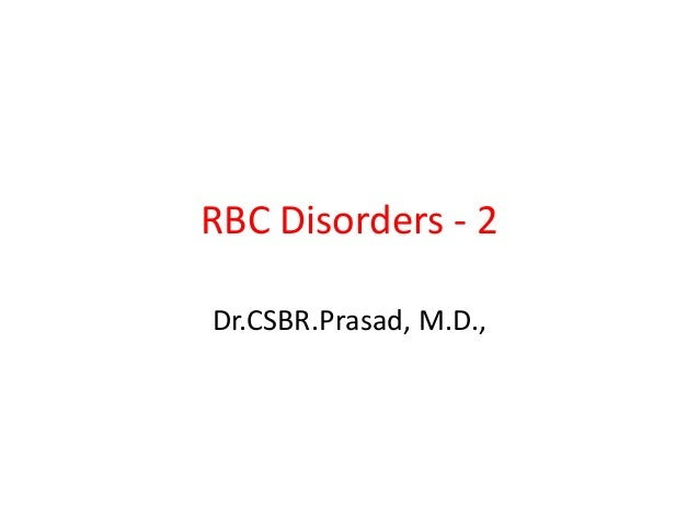 Rbc disorders 2