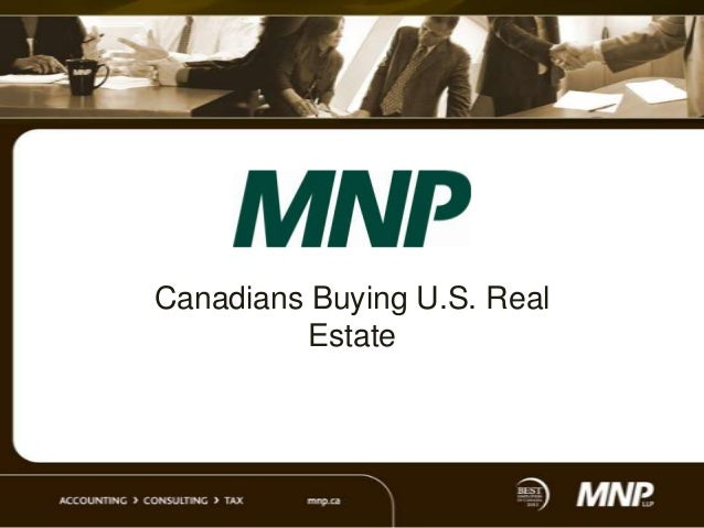 Canadians Buying  US Real Estate
