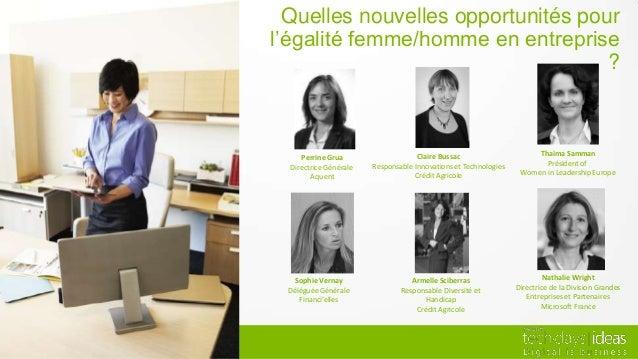 Quelles nouvelles opportunités pour l'égalité femme/homme en entreprise ?