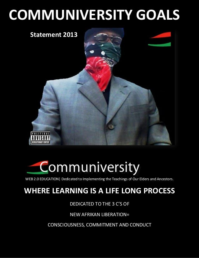 RBG COMMUNIVERSITY GOALSWEB 2.0 EDUCATION| Dedicated to Implementing the Teachings of Our Elders and Ancestors.WHERE LEARN...