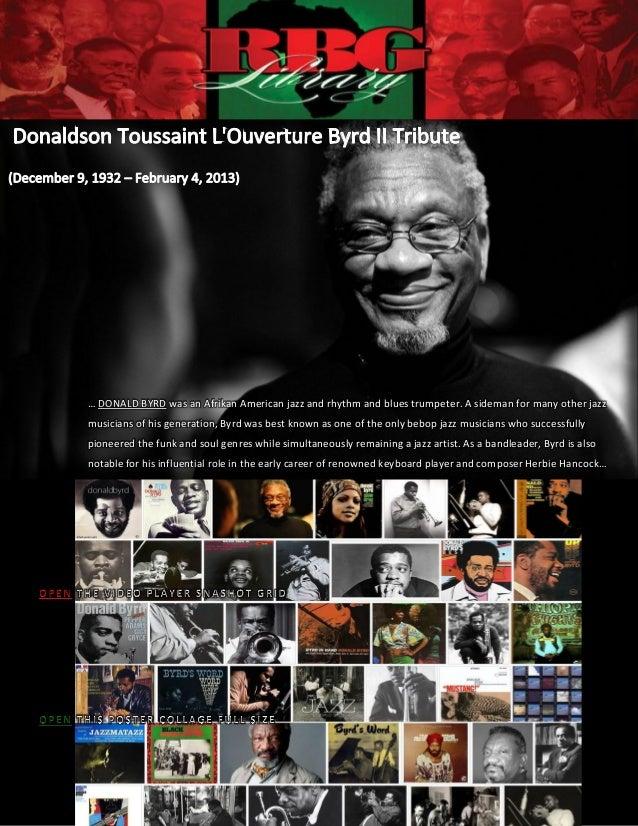 RBG Donaldson Toussaint L'Ouverture Byrd II Tribute