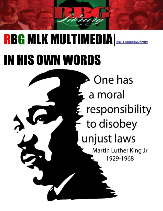 RBG MLK MULTIMEDIA|RBG CommuniversityIN HIS OWN WORDS