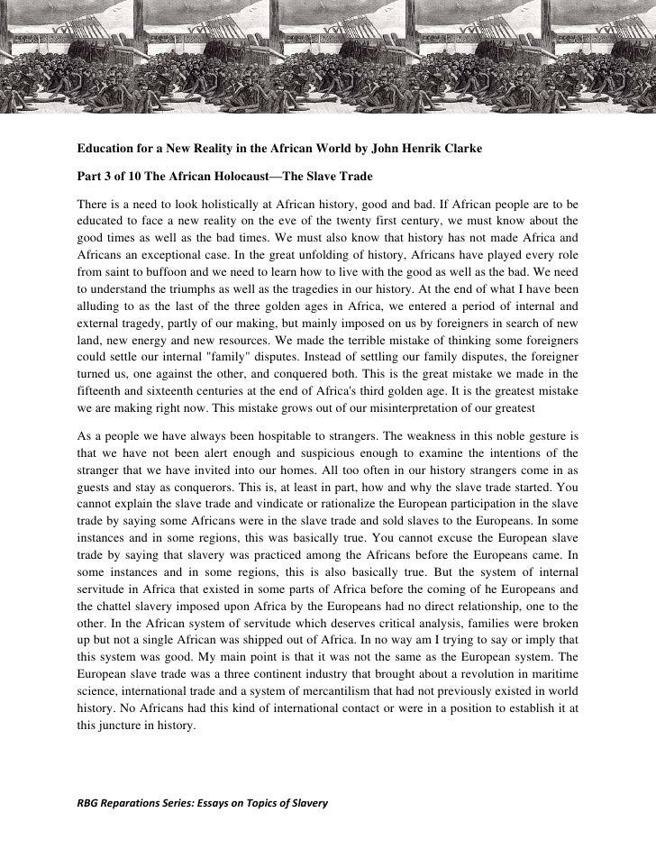 slavery essay introduction