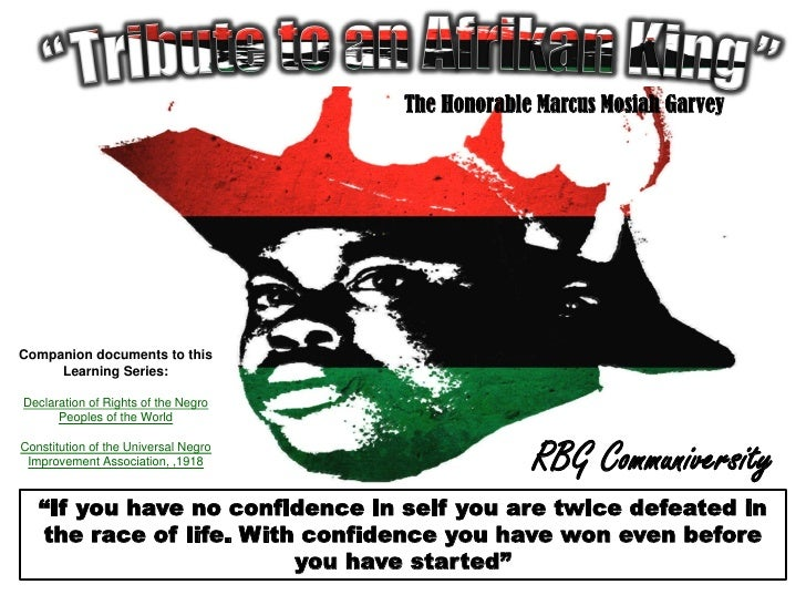 Tribute to an Afrikan King: The Honorable Marcus Mosiah Garvey
