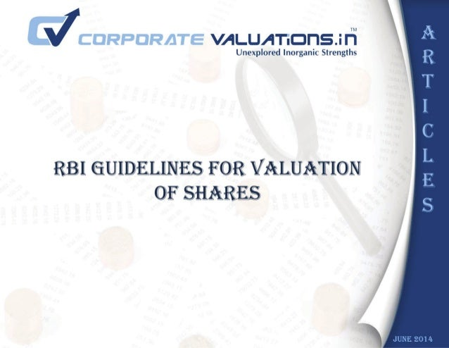 RBI Valuation and Suggested Methodologies (with effects from 01.04.2014)