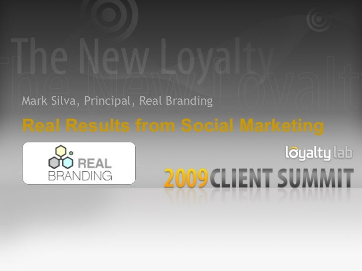 Real Results from Social Marketing