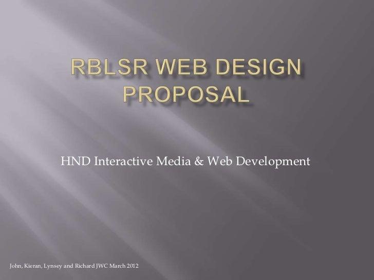 Rblsr design proposal