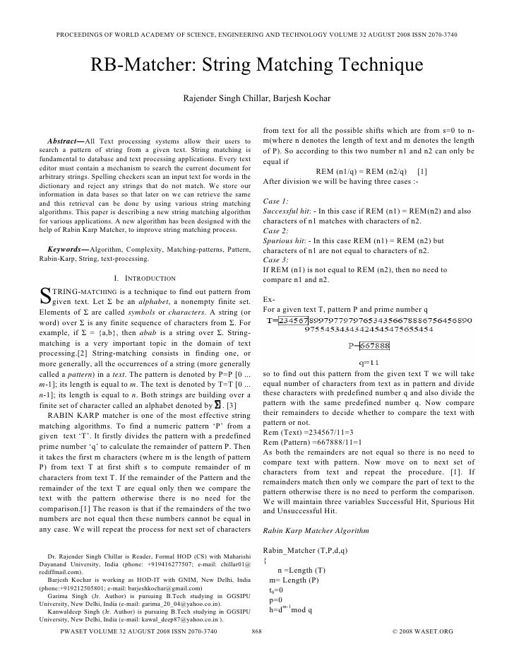 PROCEEDINGS OF WORLD ACADEMY OF SCIENCE, ENGINEERING AND TECHNOLOGY VOLUME 32 AUGUST 2008 ISSN 2070-3740                  ...