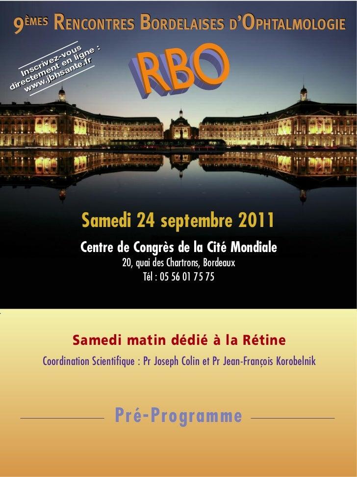Rencontres bordelaises d'ophtalmologie 2017
