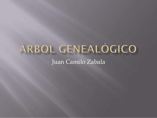 árbol genealógico Juan Zabala