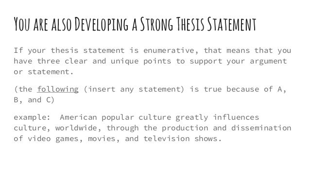 developing and supporting a thesis statement Developing supporting paragraphs each supporting paragraph in a short essay should support points made in the thesis statement the thesis statement acts as a road map for the rest of your essay it defines the ideas and the order in which they will be presented.