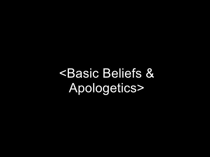 Residential Bible School: Apologetics & Basic Beliefs