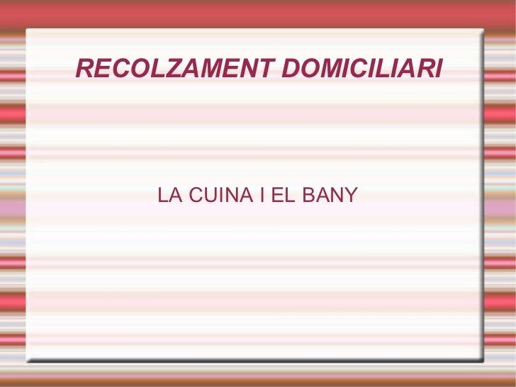 RECOLZAMENT DOMICILIARI LA CUINA I EL BANY