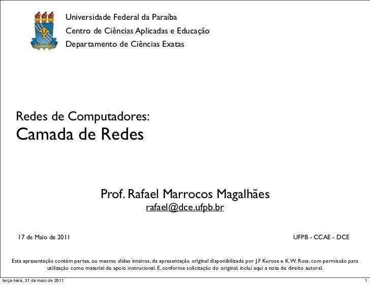 RC SL04 - Camada de Rede