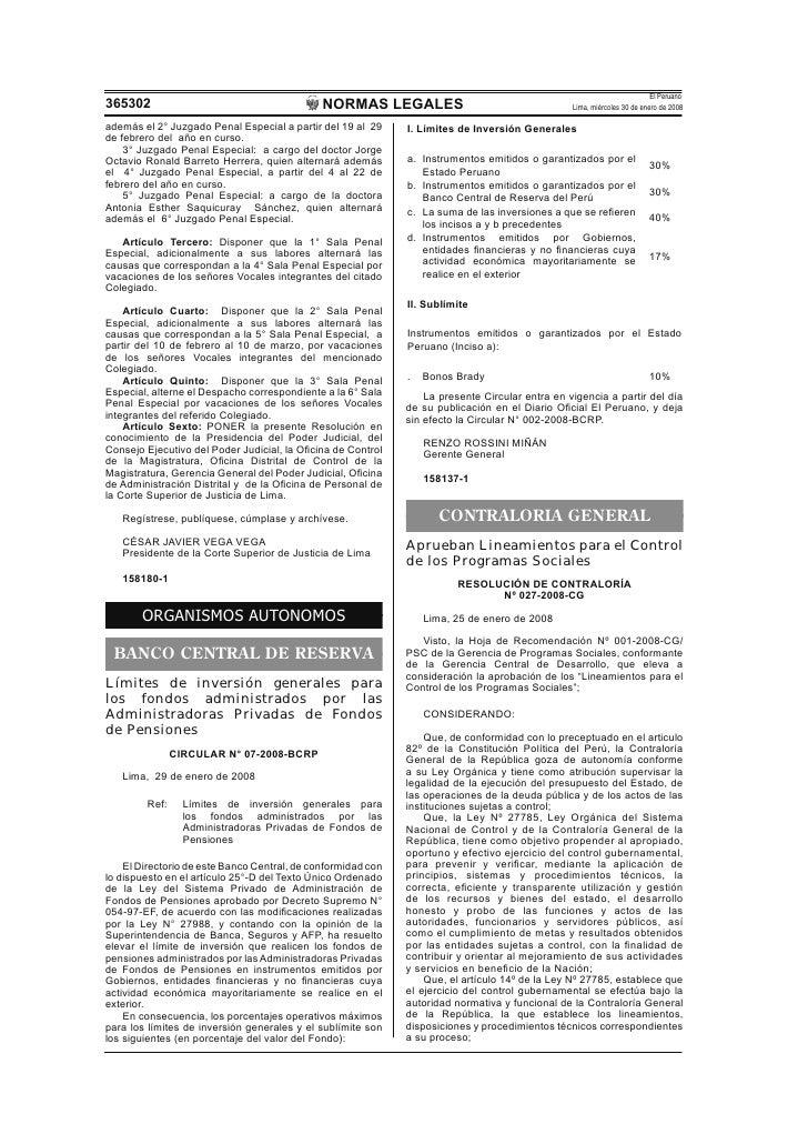El Peruano 365302                                        NORMAS LEGALES                                     Lima, miércole...