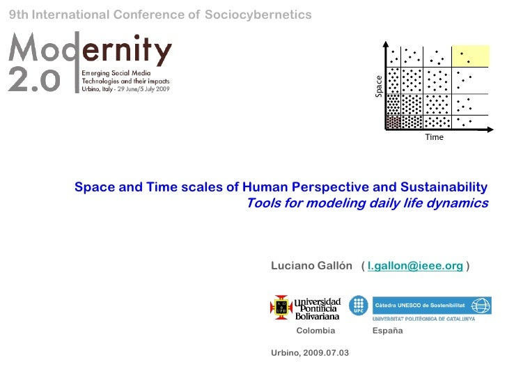 9th International Conference of Sociocybernetics                                                                   Space  ...