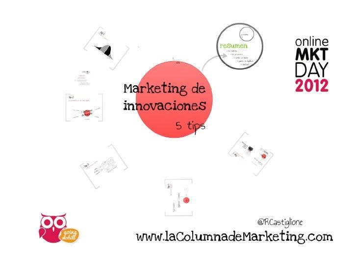 Marketing de Innovaciones - Rodrigo Castiglione