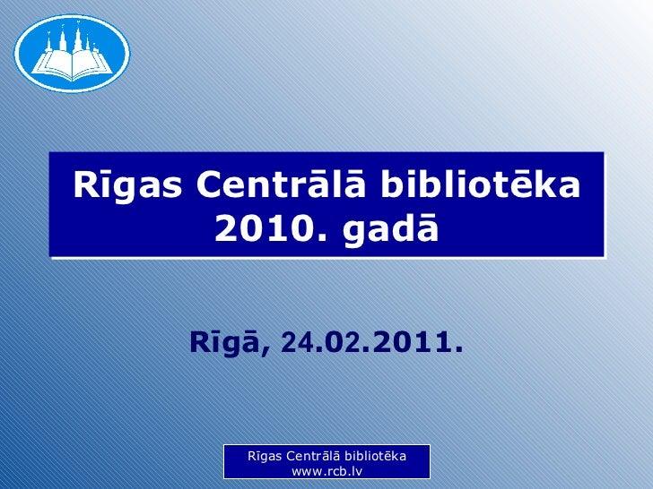 RCB 2010 parskats