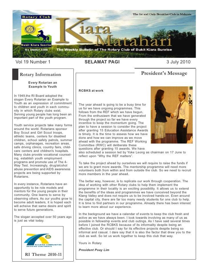 Rcbks bulletin vol 19 no 1