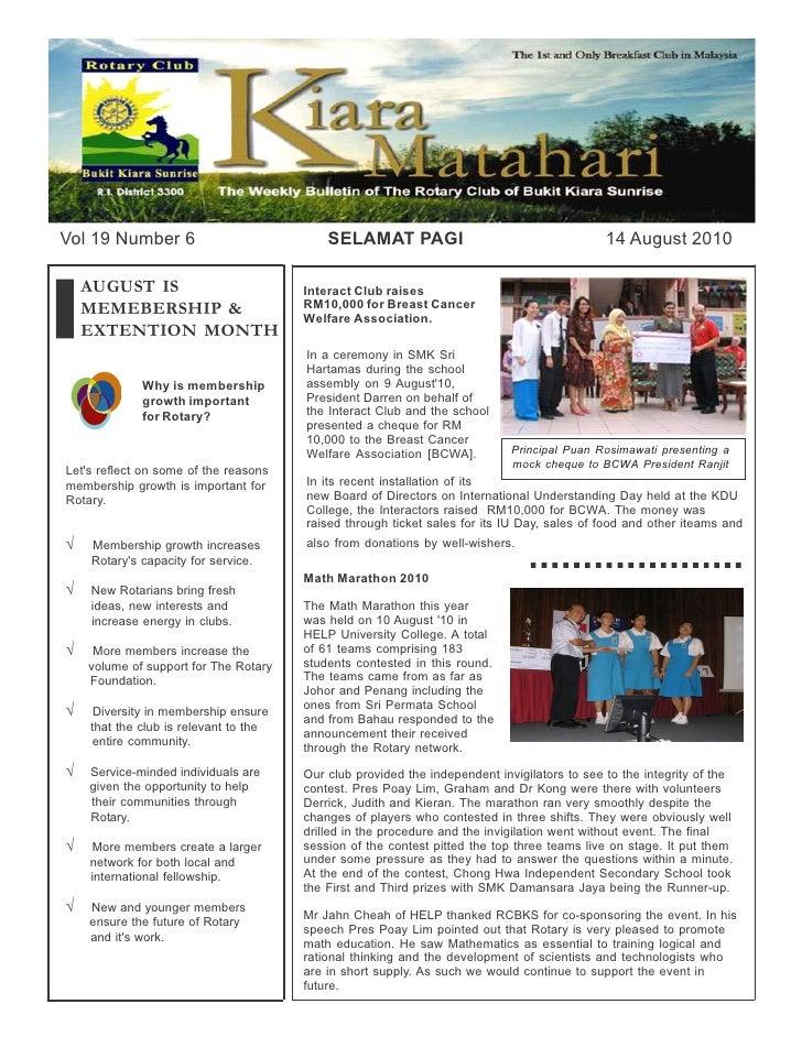Rcbks bulletin vol 19 no 6
