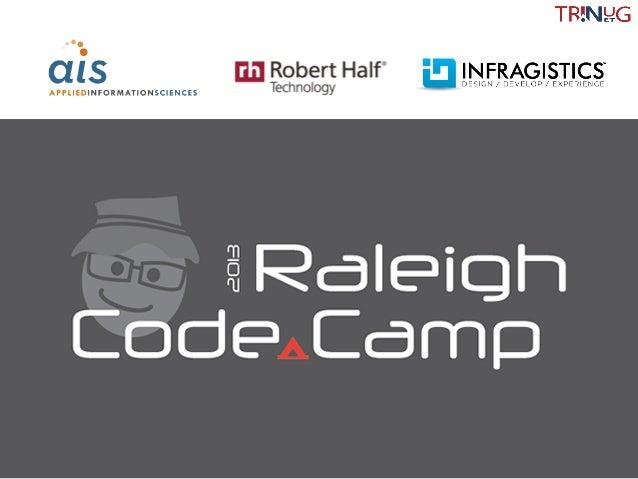 Raleigh Code Camp 2103 - .Net Metaprogramming Essentials