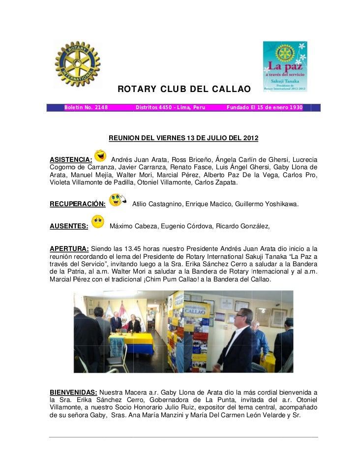 Rc callao boletin virtual n° 3