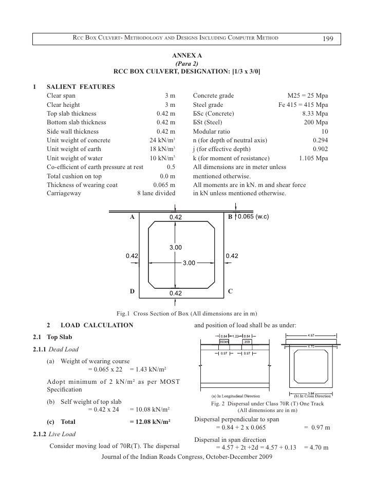 Simple Slab Culvert Design Drawings : Rcc box culvert methodology and designs including computer method