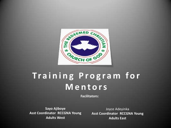Rccgna   A Training Program For Mentors   Session 1
