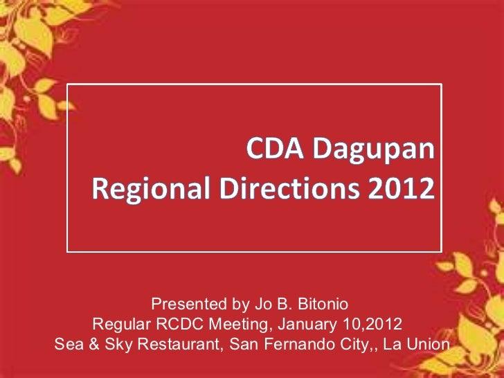 CDA Regional Direction