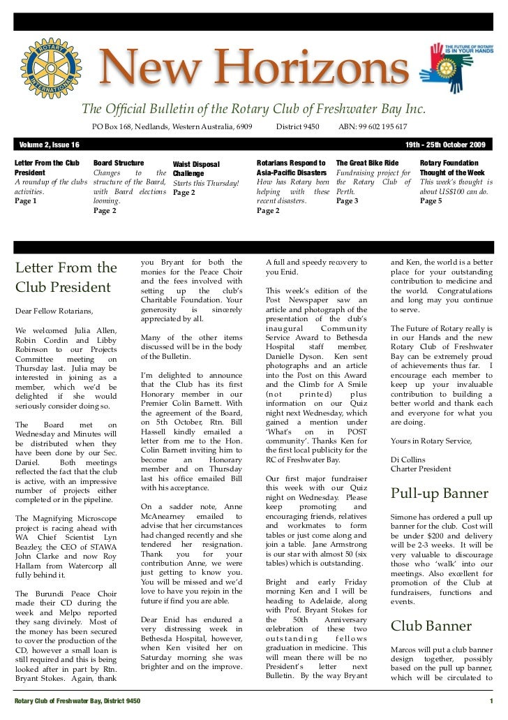 New Horizons Volume 2 Issue 16