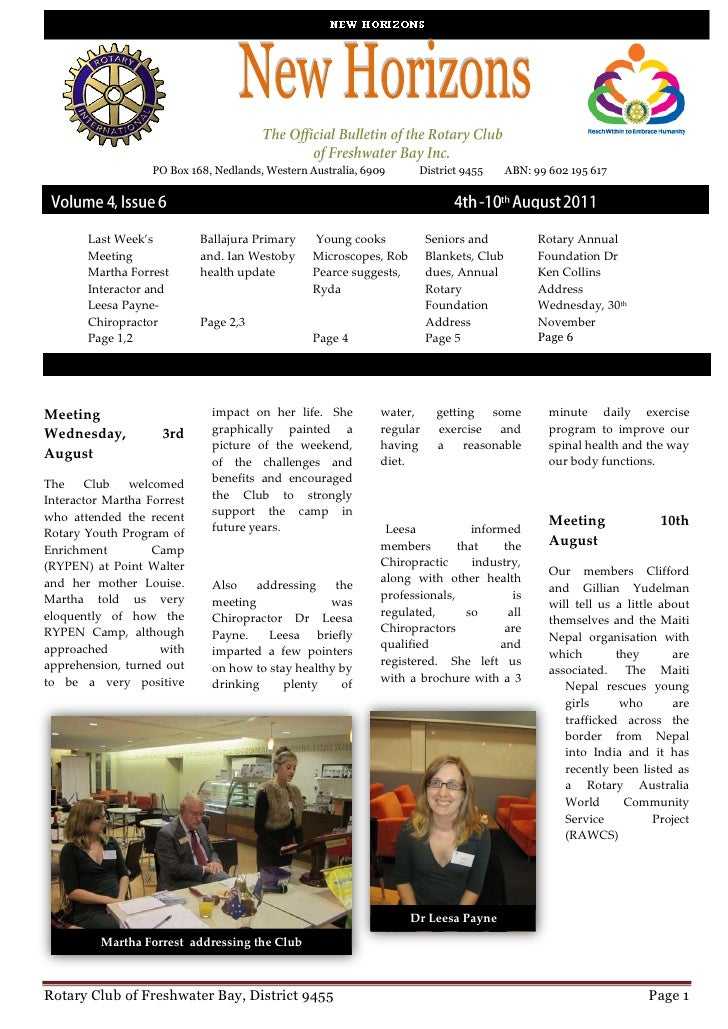 New Horizons Vol 4 Issue 6