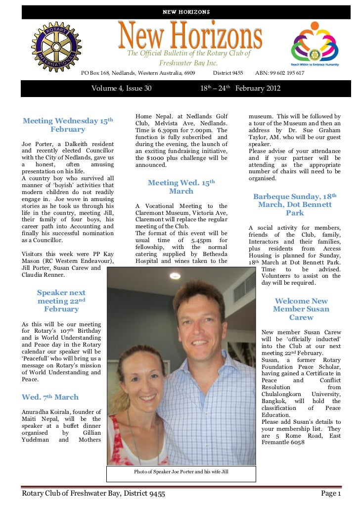 New Horizons Vol 4 Issue 30