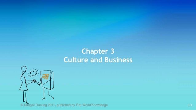 3-1 Chapter 3 Culture and Business © Sanjyot Dunung 2011, published by Flat World Knowledge