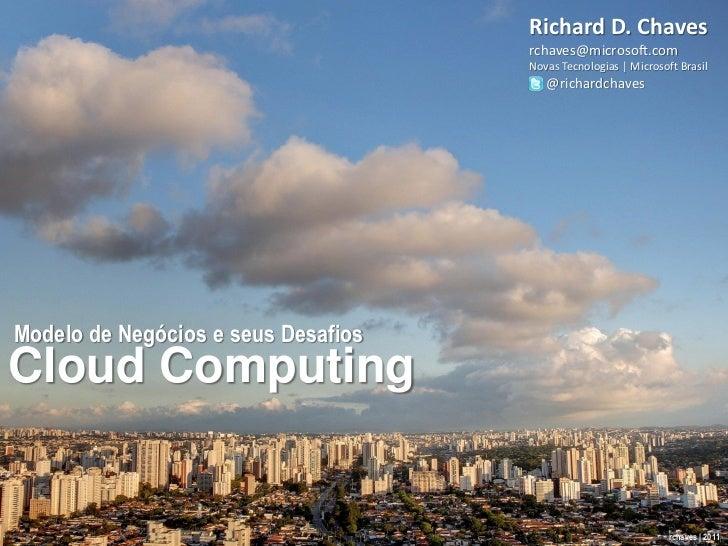 Desafios com Modelos de Negócio para Cloud Computing