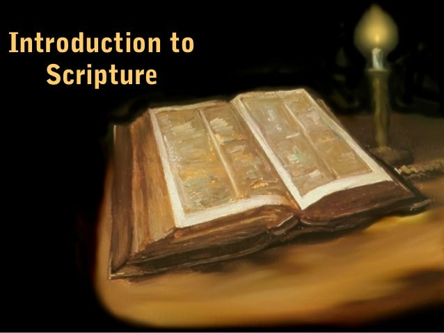 Rcia presentation on sacred scripture