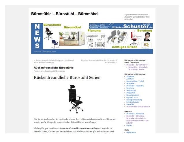 Rückenfreundliche Bürostuhl Serien
