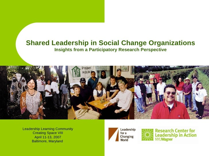 Shared Leadership in Social Change Organizations                   Insights from a Participatory Research Perspective     ...