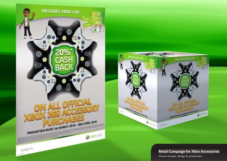 Retail Campaign for Xbox Accessories Visual concept, design & production.
