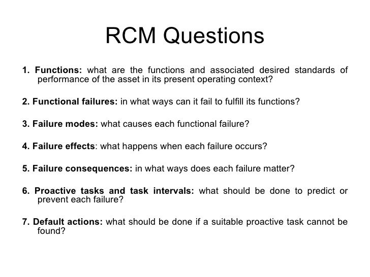 Question for RCM History 1!?
