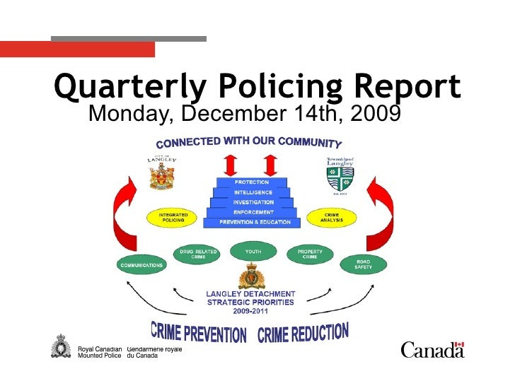 Monday, December 14th, 2009 Quarterly Policing Report