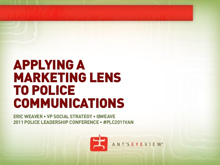 Applying a Marketing Lens to Police Communications