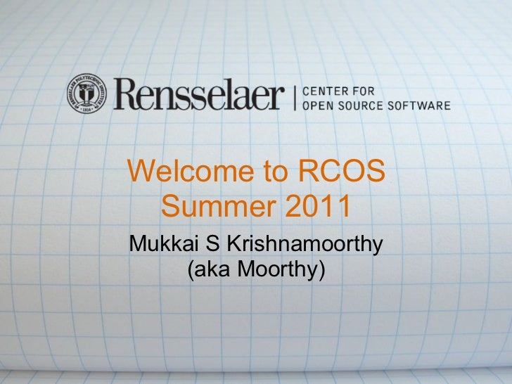 Rcos summer 2011_first_talk