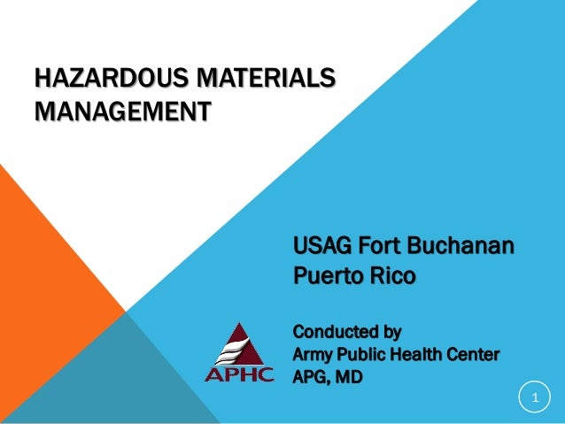Resource Conservation and Recovery Act (RCRA) Waste Site Management USAG Fort Buchanan Puerto Rico Conducted by US Army Pu...