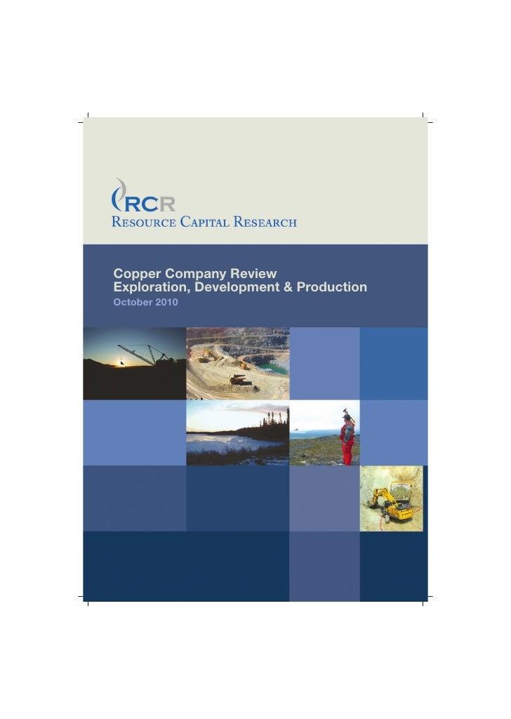 RCR Quarterly Report- Oct-10-Copper