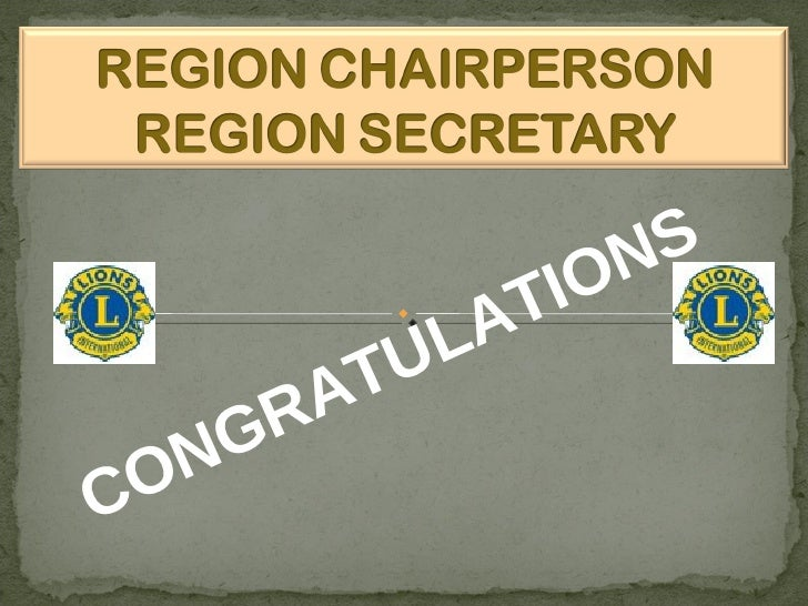 Lions Region Chairpersons