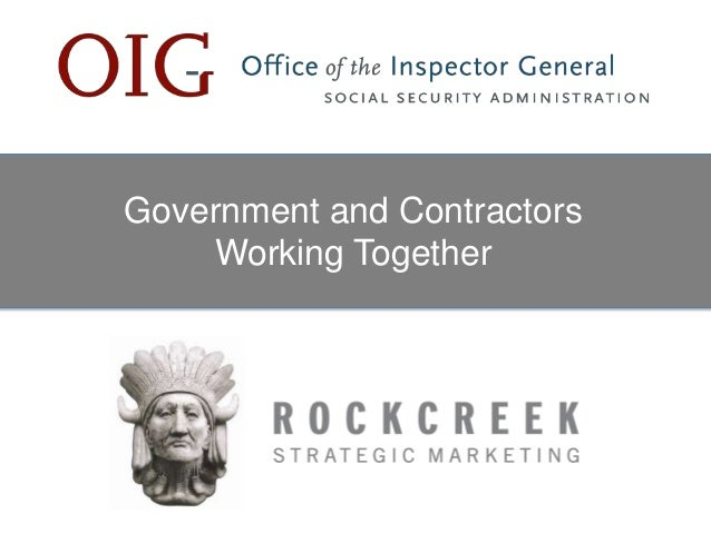 Government and Contractors Working Together