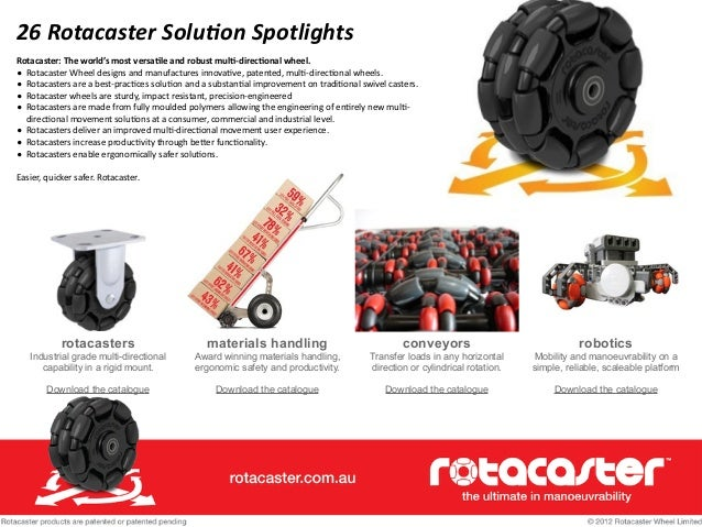 26	   Rotacaster	   Solu/on	   Spotlights Rotacaster:	   The	   world's	   most	   versa3le	   and	   robust	   mul3-­‐dir...