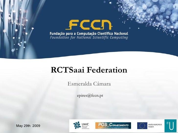 RCTSaai Federation Esmeralda Câmara May 29th  2009