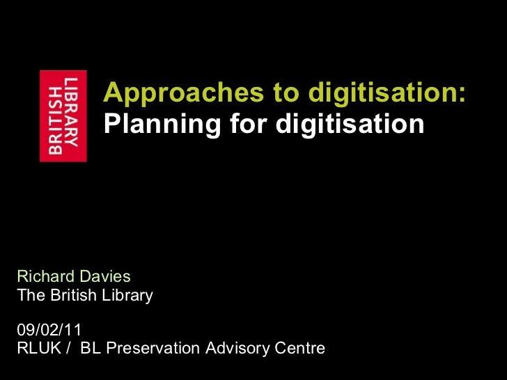 Planning for digitisation (09-02-11)